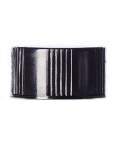 Black phenolic 18-400 lid with PP polycone liner