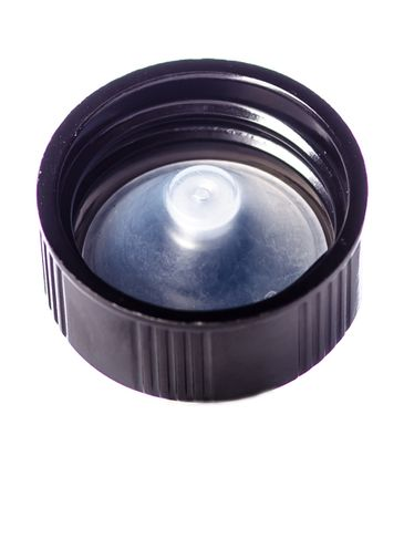 Black phenolic 22-400 lid with PP polycone liner