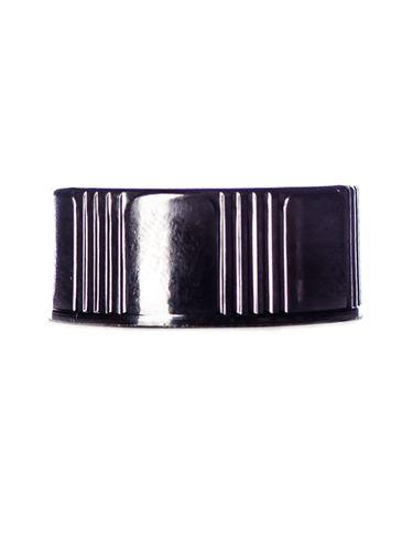 Black phenolic 24-400 lid with LDPE polycone liner