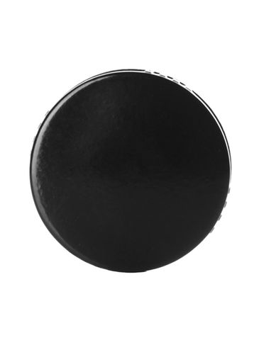 Black PP plastic 28-400 lid with PP plastic polycone liner