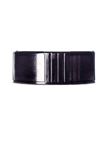 Black phenolic 28-400 lid with polycone liner
