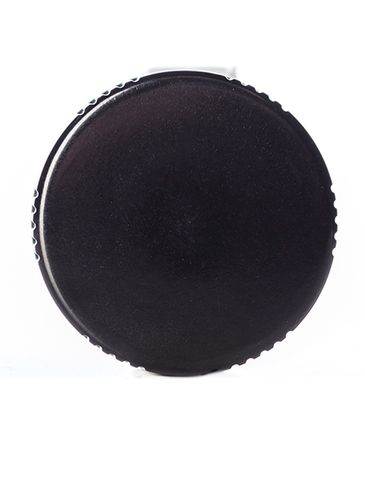 Black phenolic 33-400 lid with PP polycone liner