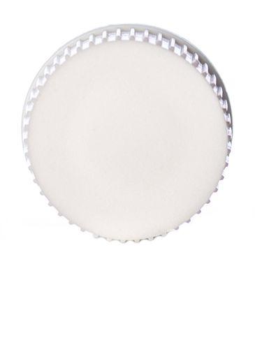 White LDPE plastic 20-410 ribbed skirt plug seal lid