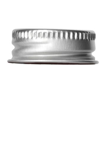 Silver aluminum lid 24-400 with foam liner