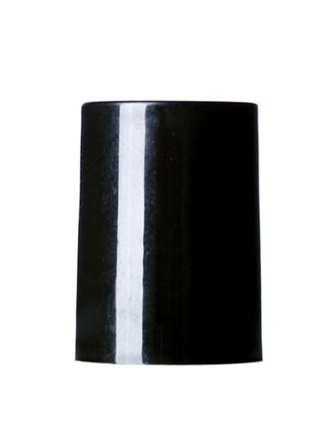 Black PP plastic smooth skirt screw cap for glass roll on bottle (test for compatibility)