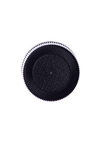 Black PP plastic 20-400 brush cap with 2.625 inch brush