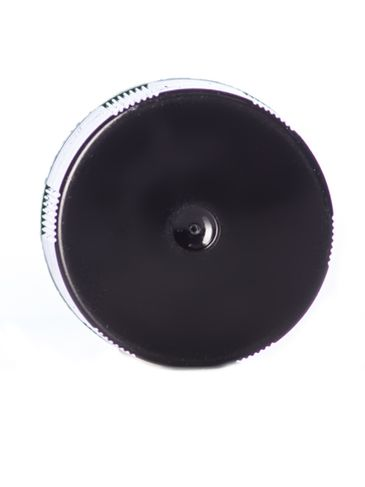 Black PP plastic brush cap with foam liner, 2.15625 inch brush and 18-400 neck finish
