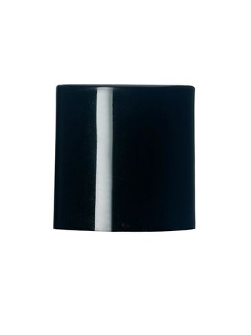 Black PP plastic 24-410 smooth skirt unlined disc top lid