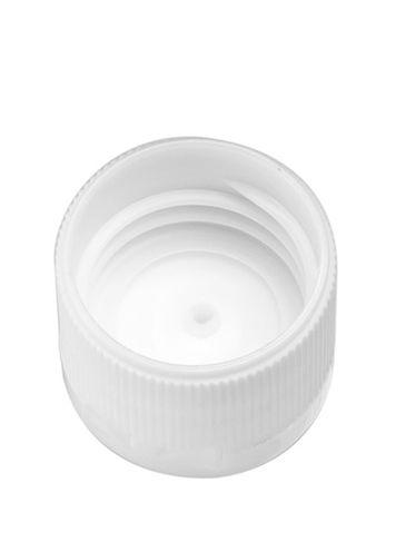 White PP plastic 20-410 ribbed skirt flip top unlined lid
