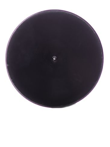 Black PP plastic 53-400 smooth skirt lid with foam liner