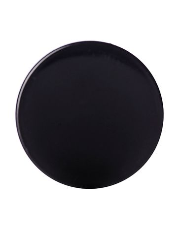 Black PP plastic 33-400 smooth skirt lid with foam liner