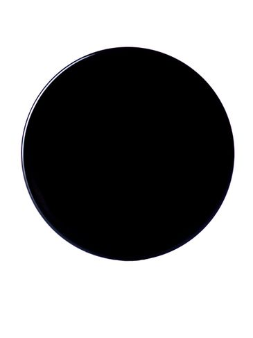 Black PP plastic 38-400 smooth skirt lid with foam liner