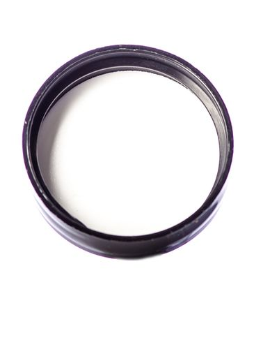 Black PP plastic 33-400 dome lid with foam liner