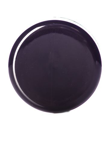 Black PP plastic 33-400 dome lid with heat induction seal (HIS) liner (for HDPE, LDPE, MDPE and PP plastic containers only)