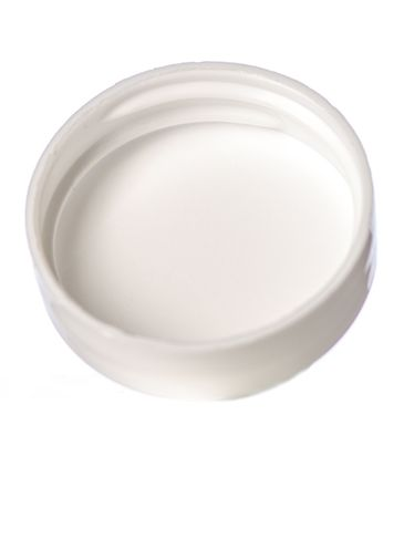 White PP plastic 33-400 dome lid with foam liner