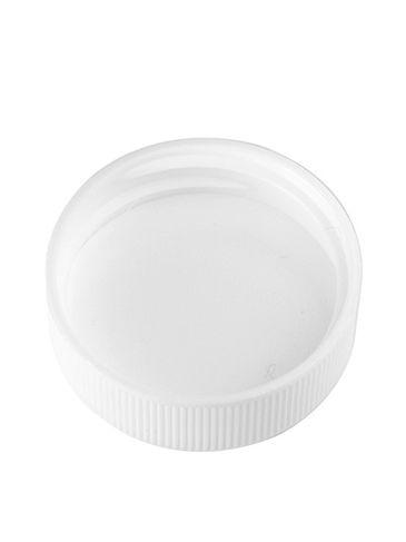White PP plastic 33-400 ribbed skirt lid with foam liner