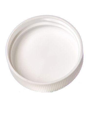 White PP plastic 38-400 ribbed skirt unlined lid