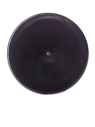 Black PP plastic 43-400 smooth skirt lid with foam liner