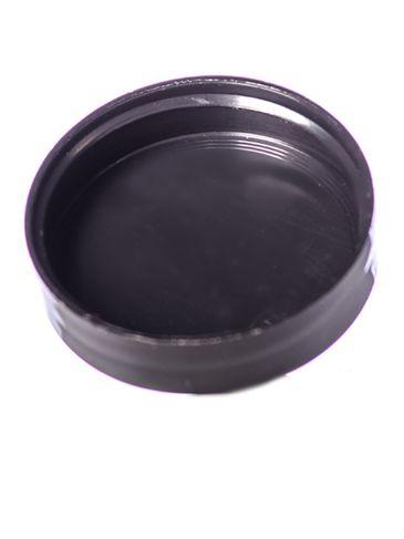 Black PP plastic 43-400 smooth skirt unlined lid