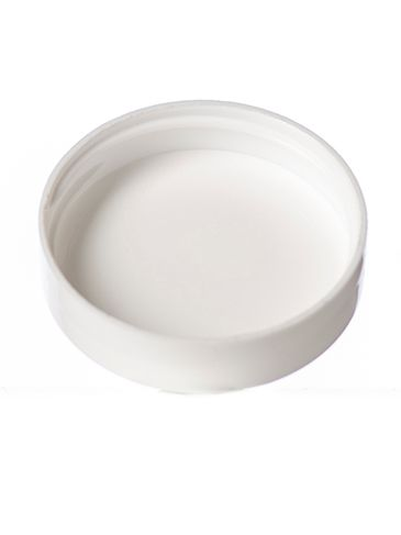 White PP plastic 43-400 smooth skirt top gated lid with foam liner