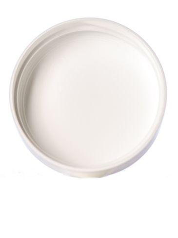White PP plastic 43-400 smooth skirt unlined lid