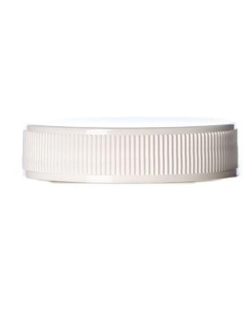 White PP plastic 45-400 ribbed skirt lid with foam liner