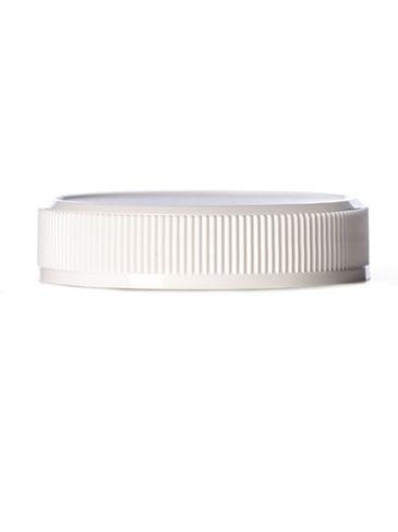 White PP plastic 48-400 ribbed skirt unlined lid