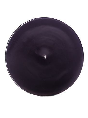 Black PP plastic 48-400 smooth skirt lid with foam liner