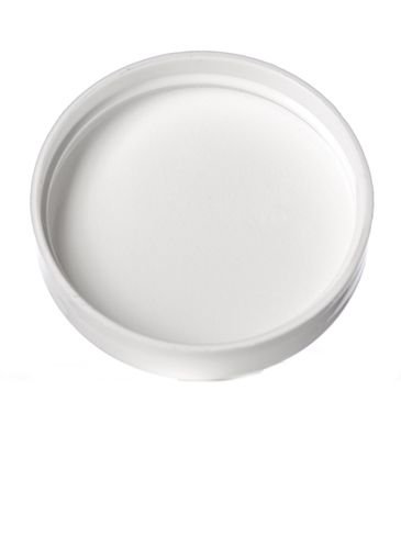 White PP plastic 48-400 dome lid with foam liner