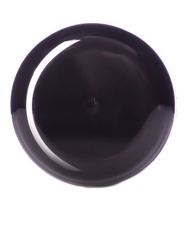 Black PP plastic 53-400 dome lid with foam liner