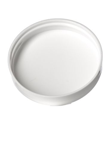 White PP plastic 53-400 dome lid with foam liner