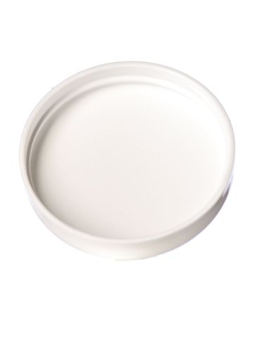 White PP plastic 58-400 dome lid with foam liner