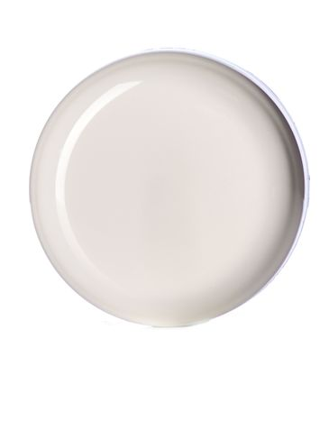 White PP plastic 58-400 unlined dome lid