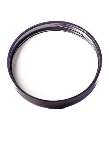 Black PP plastic 58-400 dome lid with foam liner