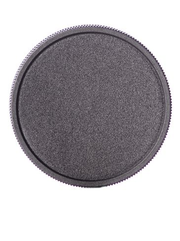 Black PP plastic 58-400 ribbed skirt lid with foam liner