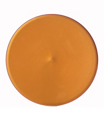 Copper PP plastic 58-400 smooth skirt lid with foam liner