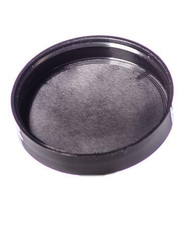 Black PP plastic 58-400 smooth skirt unlined lid