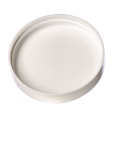 White PP plastic 63-400 smooth skirt unlined lid