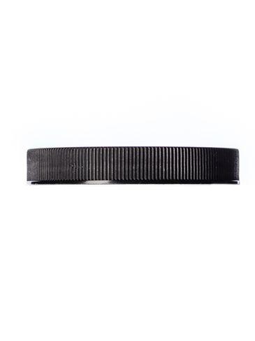 Black PP plastic 70-400 ribbed skirt lid with foam liner