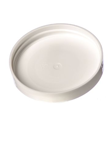 White PP plastic 70-400 smooth skirt unlined lid