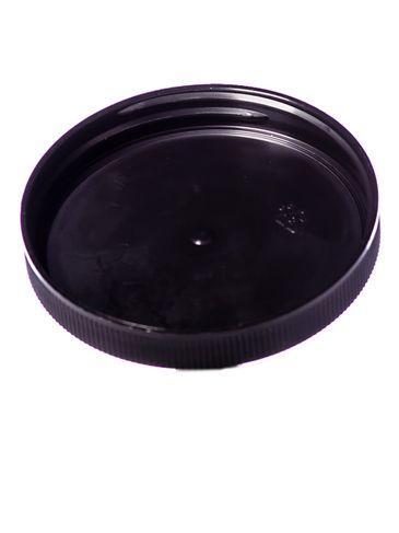 Black PP plastic 70-400 ribbed skirt unlined lid