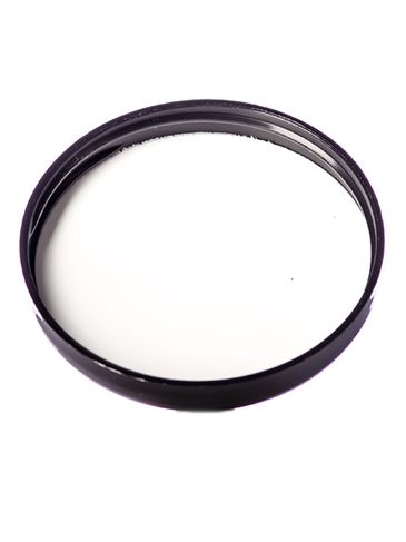 Black PP plastic 70-400 dome lid with foam liner