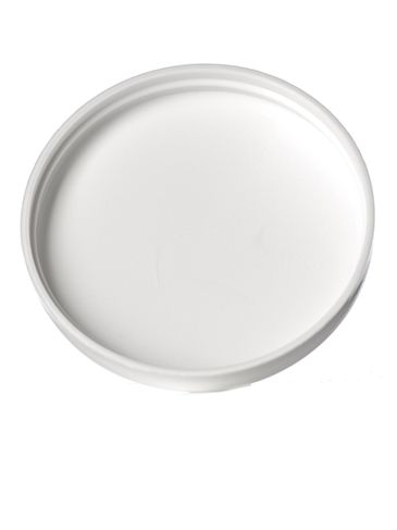 White PP plastic 70-400 dome lid with foam liner