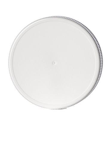 White PP plastic 70-450G ribbed skirt lid with foam liner