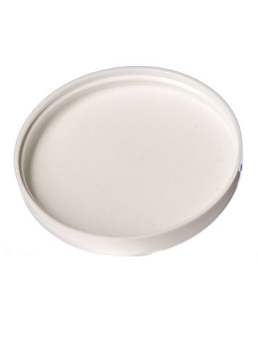 White PP plastic 83-400 dome lid with foam liner