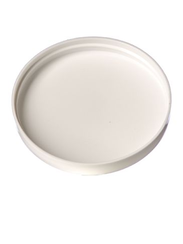 White PP plastic 89-400 dome lid with foam liner