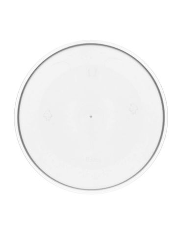 89 mm natural-colored plastic seal disc with tab