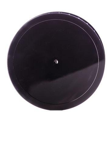 Black PP plastic 110-400 ribbed skirt unlined lid