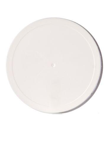 White PP plastic 110-400 ribbed skirt unlined lid