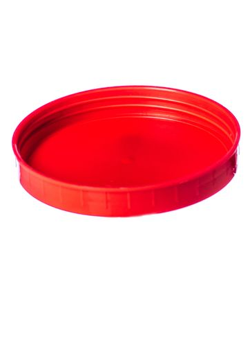 Red PP plastic 110-400 ribbed skirt unlined lid